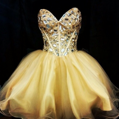 Cute Homecoming Dress,Tulle Homecom..