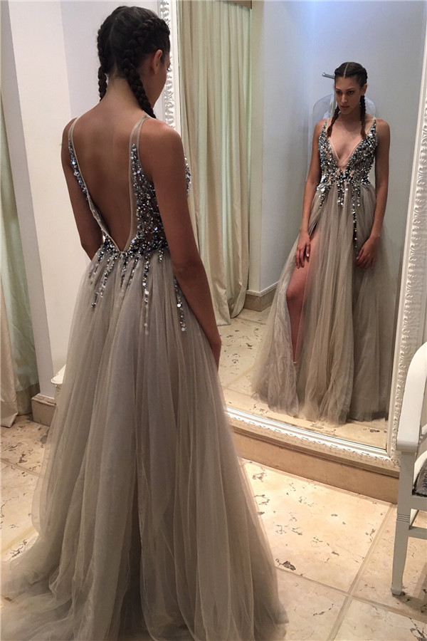 d9973150ea Newest Beading A-Line Prom Dresses