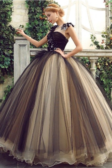 Classic Red And Black Quinceanera Dress,Embroidery Ball Gowns ...