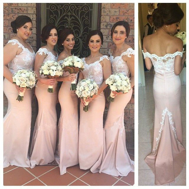 Lace Bridesmaid Dress Long Gown Pink Gowns Mermaid Dresses White La On Luulla