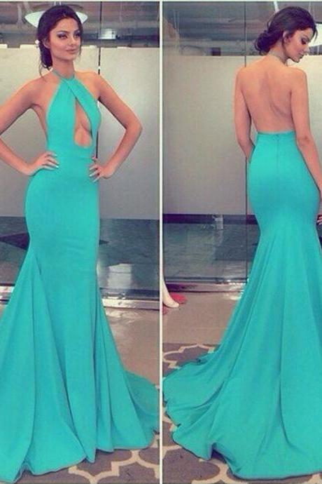 Prom Dress,Prom Dresses,Mermaid Prom Dresses,Mermaid Formal Gowns, Prom Dresses Long,Halter Prom Dress,Sexy Prom Dresses