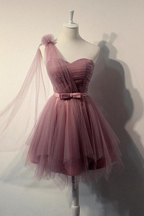 Homecoming Dress,Tulle Homecoming Dress,Pleat Homecoming Dress,Cute Homecoming Dress
