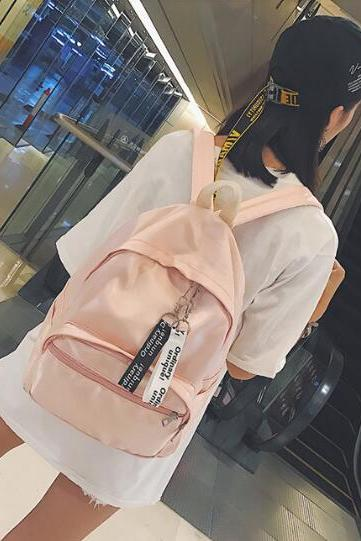 Pink Backpack Sport And Fashion