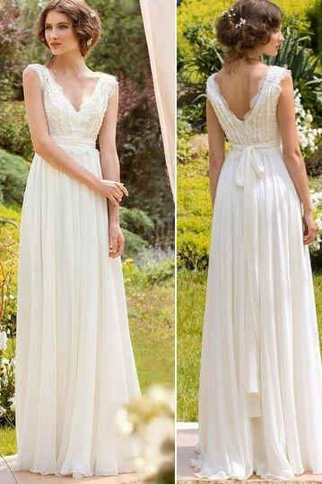 Spring Bohemian Bridal Wedding Dress