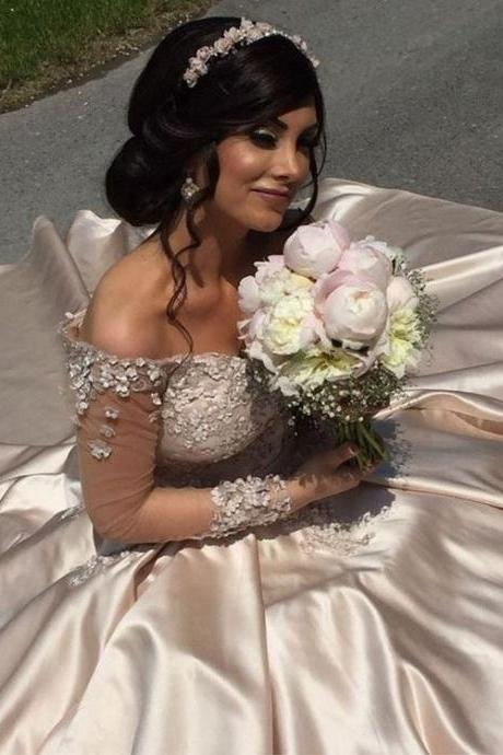 Appliques Ball Gown Wedding Dresses Bridal Gowns