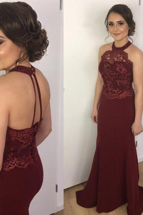 2018 New Arrival O-Neck A-Line Prom Dresses,Long Prom Dresses,Cheap Prom Dresses, Evening Dress Prom Gowns, Formal Women Dress,Prom Dress