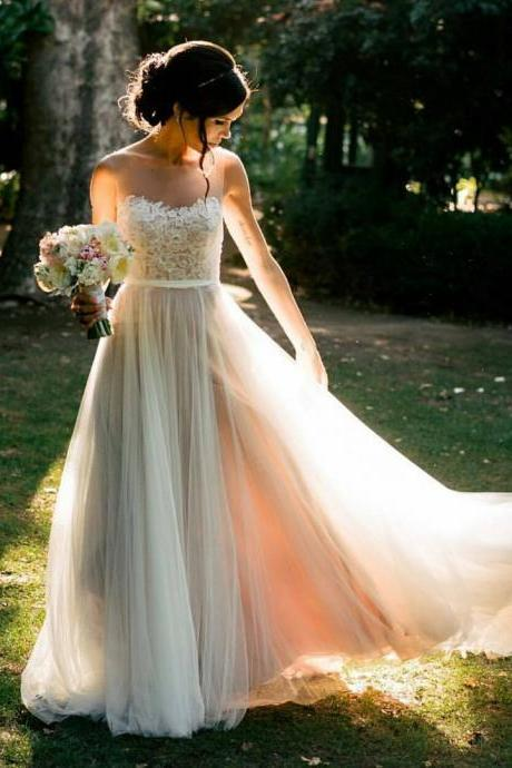 Country wedding dresses on luulla wedding dresswedding dresseslace wedding dressesbeach wedding dressessheer neck junglespirit Images