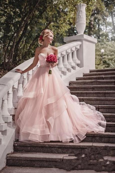 2018 New Charming A-line Wedding Dress Sweetheart Bridal Dresses Floor Length High Quality Wedding dresses
